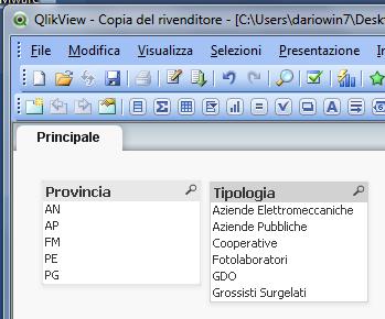Applicare un Filtro in Apertura su Qlikview