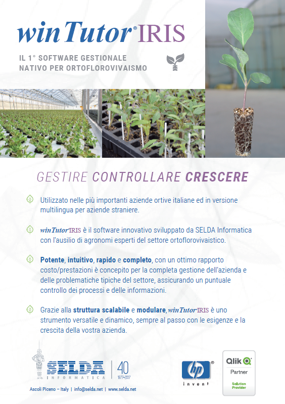 Prima pagina Brochure winTutor®IRIS