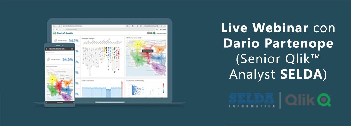 Live Webinar di SELDA Informatica dedicato a Qlik Sense