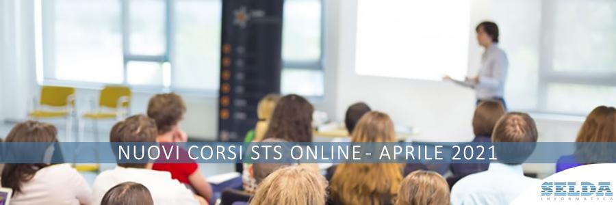 In Partenza in Nuovi Corsi STS Online di Aprile 2021 di SELDA Informatica